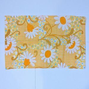 2/$20 Vintage Wabasso yellow floral pillowcase